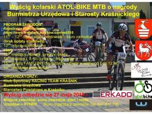 Wyścig kolarski ATOL-BIKE MTB 2018 o nagrody Burmistrza Urzędowa i Starosty Kraśnickiego