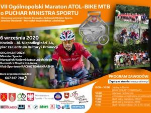 VII Ogólnpolski Maraton ATOL-BIKE MTB o Puchar Ministra Sportu i nagrody Burmistrza Kraśnika – 9 września 2020 roku